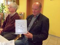 Bild: SBV-PB. Herr Jünger nimmt am Forum in Burg Stargard am 7. Mai teil und bekommt dort die Plakette überreicht
