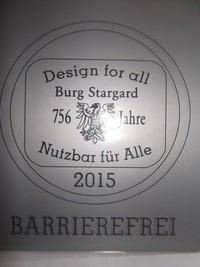 Plakette 'Barriererfrei'