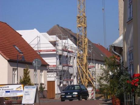 Die Baustelle an der Langen Straße 18