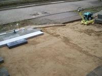 Bauarbeiten am Bahnsteig Foto: SBV / KK 06.12.07