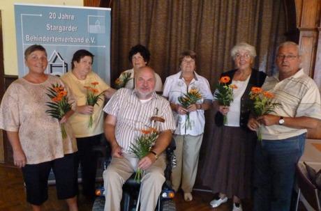 Bild:SBV links im Bild Frau Hormann, Frau Lips, Frau Krause, Frau Müller, Frau Hinz, Herr Kölpin und Herr Braun